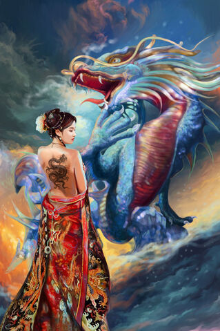 File:Oriental beauty and dragon by tigermyuou.jpg