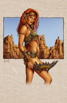 Flame Hair Desert Elf Color by MitchFoust