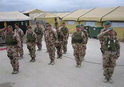 Straslander soldiers in Camp Unitas