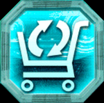 Recycle shop icon