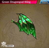 Green Dragongod Wing