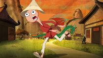 Candace runs to her mom