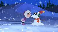 Isabella kisses Phineas Snowman.jpg