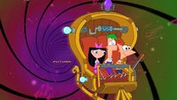 Phin, Ferb and Izzy go to the future