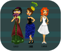 Fashion throughout time, by katiediazz
