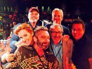 Rob Paulsen with Judith Hoag, Townsend Coleman, Cam Clarke, Barry Gordon, & Kevin Eastman