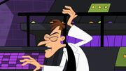 Doofenshmirtz after being hit by Perry-Candace's purse