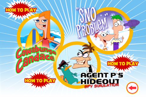 File:Phineas and Ferb Arcade game selection screen.png