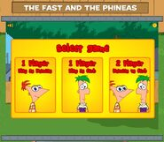 The Fast and the Phineas game player selection