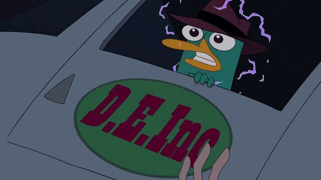 File:Perry about to transform into a Doof-Zombie.JPG