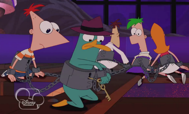File:AT2D - Perry, Phineas, Ferb, Candace, and Doof Chained.png