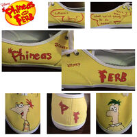 Phineas and Ferb shoes, by SimplyForgotten94