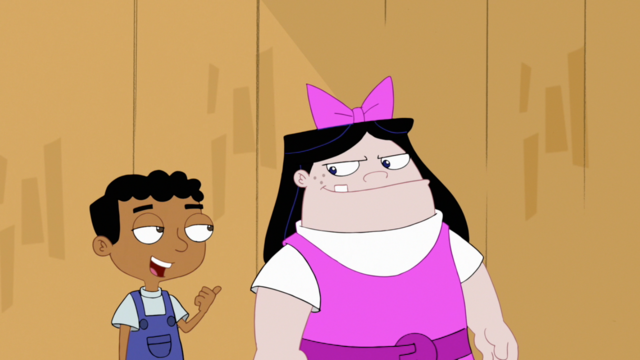 File:Baljeet and Buford dressed as Isabella.png