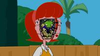 Robot Linda with alien Garbog