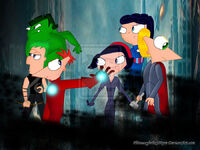 PnF The avengers, by Phineasyferbx100pre
