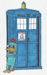 Perry and the TARDIS, by RosyInk-Liv54