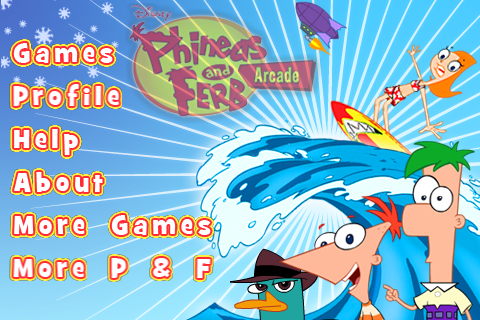 File:Phineas and Ferb Arcade menu.png
