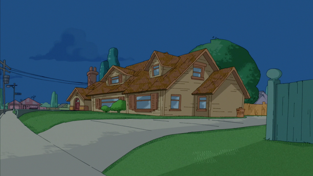 File:Phineas and Ferb's house at night.png