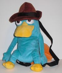 Agent P plush backpack by Loungefly