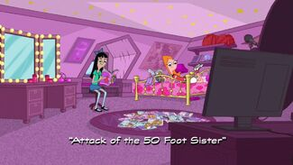 Attack of the 50 Foot Sister title card