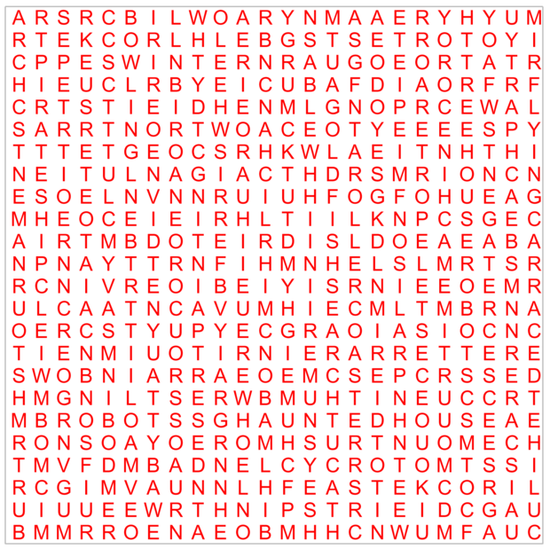 Word search Dec 2012