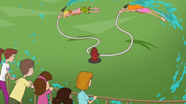 File:Candace and Jeremy being spun around a fire hydrant 3.jpg