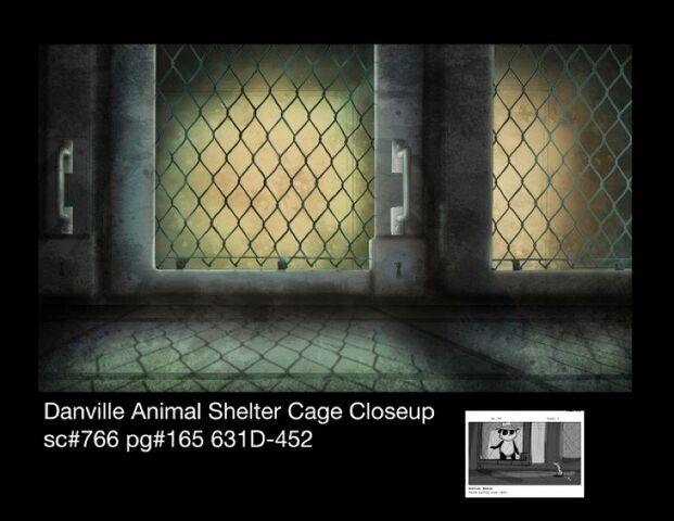 File:Danville animal shelter cage closeup winter.jpg