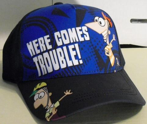 File:Here Comes Trouble! baseball cap.jpg