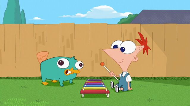 File:Baby Perry and Phineas enjoy playing music.jpg