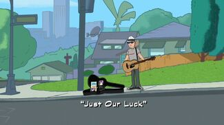 Just Our Luck title card