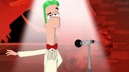 Ferb in dapper costume