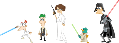 Phineas and Ferb Star Wars, by markmak