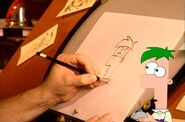 Dan draws Ferb