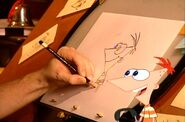 Dan draws Phineas