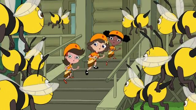 File:Adyson, Milly and Holly singing to the bees.JPG