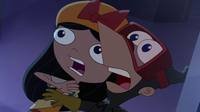 File:Isabella and Phineas screams together.jpg