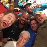 Kevin Michael Richardson with Andrea Romano, Seth Green, Rob Paulsen, Greg Cipes, & Sean Astin
