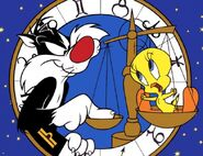 Sylvester and Tweety Funny Cartoon Characters Wallpaper