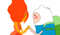 Finn and flame princess by julietsbart-d4prg7t