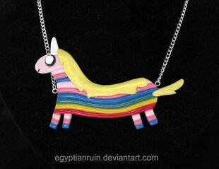 Lady rainicorn necklace by egyptianruin-d4nk220