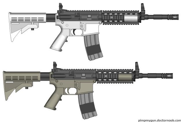 File:Two different mw2 M4A1.jpg
