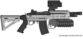 K-87 Arctic Scout Carbine with K-77 Ultra Compact 40mm Grenade Launcher