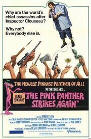 Pink panther strikes again movie poster