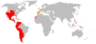 Spanish Overseas Empire and Spanish Hapsburg Realms