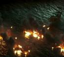 Destruction of Barbossa's fleet
