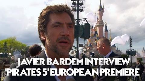 Javier Bardem Interview Pirates Of The Caribbean Dead Men Tell No Tales European Premiere (HD)