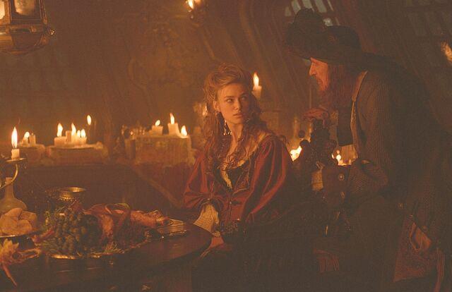 File:Captain Barbossa and Elizabeth in the cabin 1.jpg
