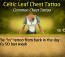 Celtic Leaf Chest Tattoo