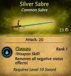 Silver Sabre