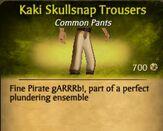 Kaki Skullsnap Trousers